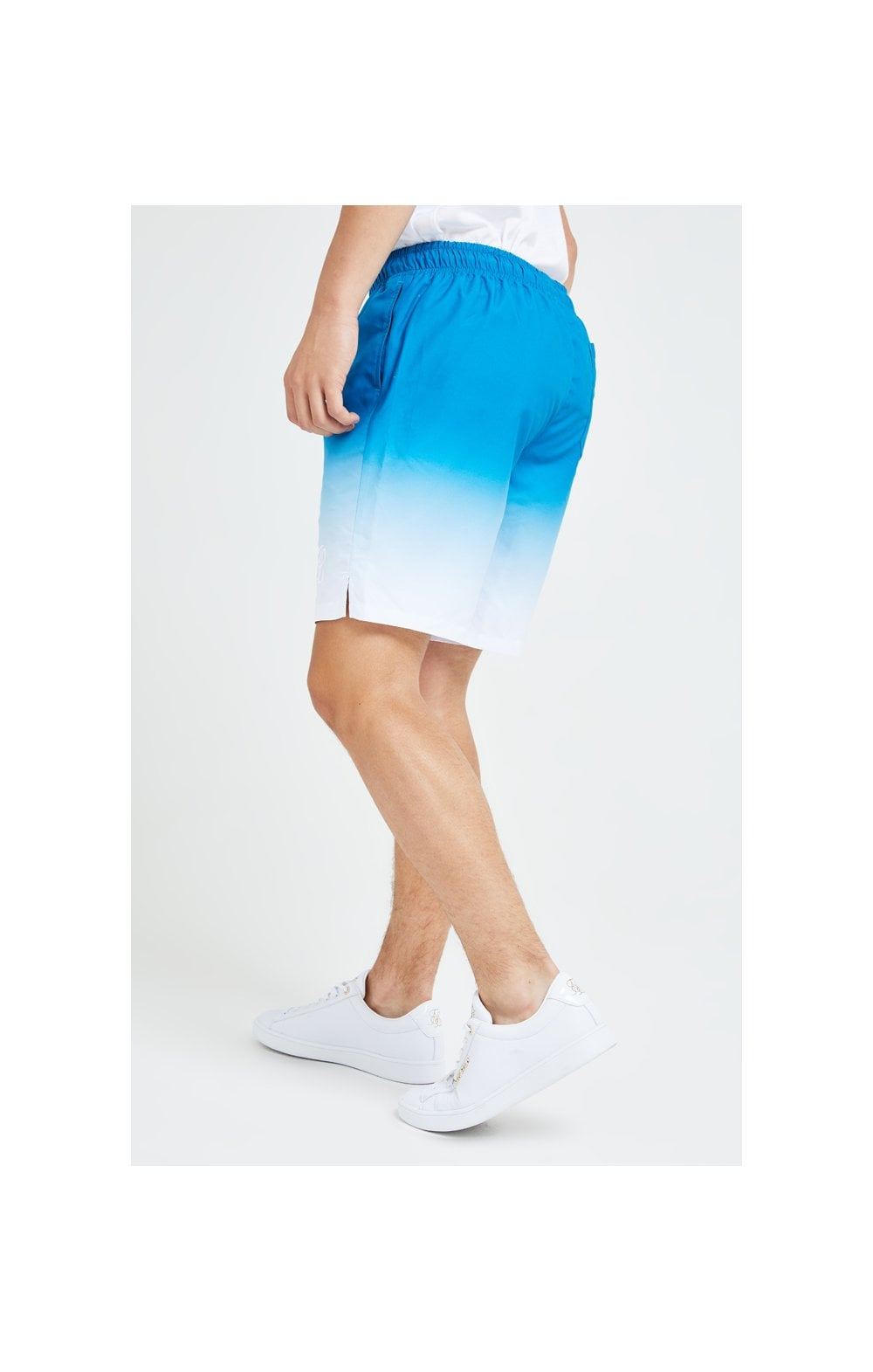 Illusive London Elevate Fade Swim Shorts - Blue & White (1)