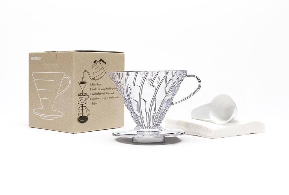 Hario V60 Dripper Set Transparent
