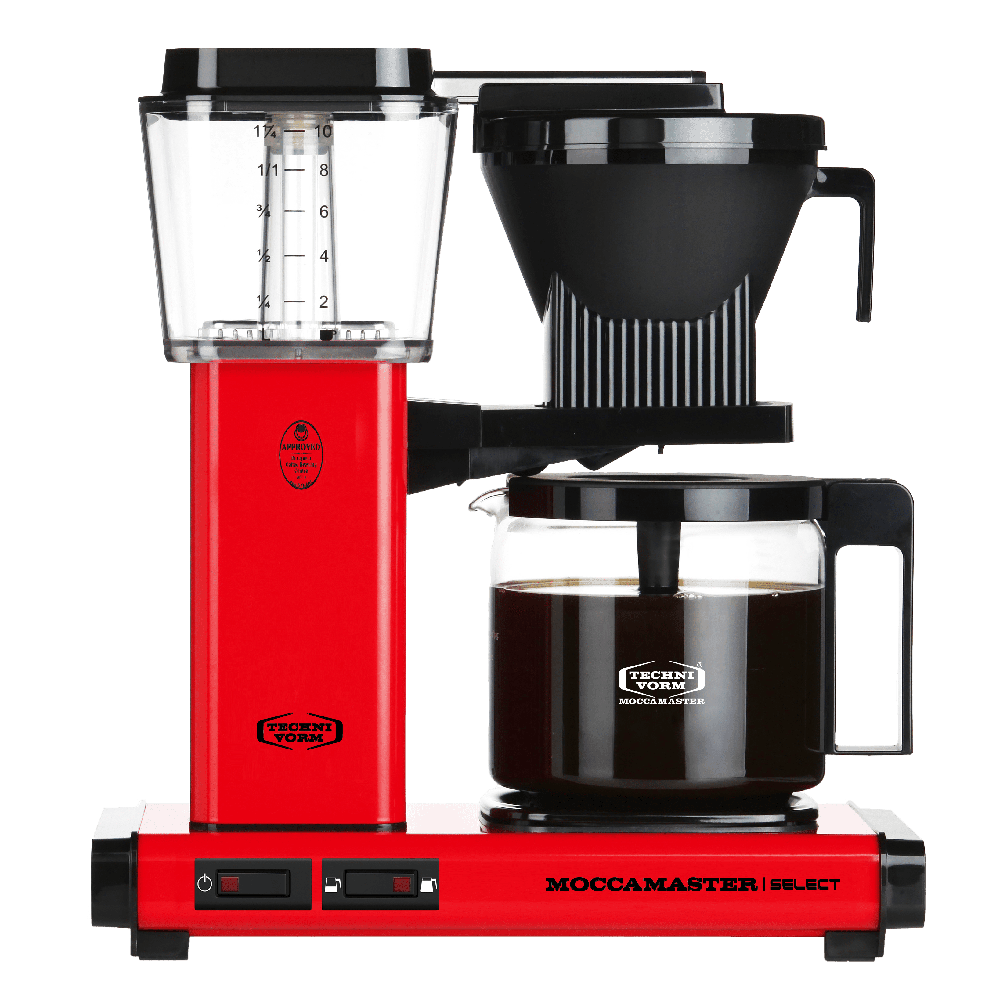 red moccamaster kbg select coffee machine