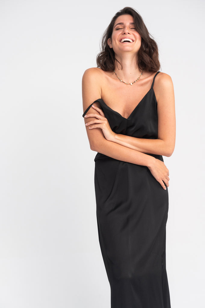 Wrap Slip Dress - La vie en rose Paros