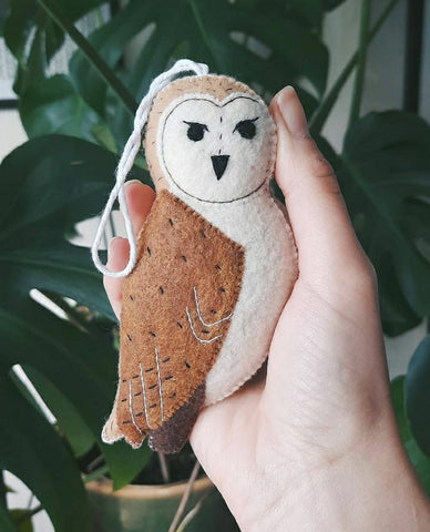 barn owl decoration