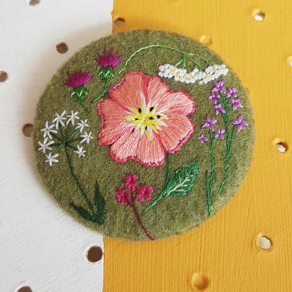 nature reserve wild flowers badge
