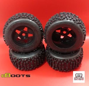 ARRMA BLX 6S DBOOTS 'BACK-FLIP MT 6S' TIRE SET GLUED (BLACK) (4PCS)