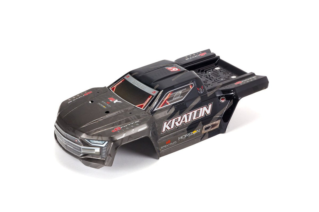 KRATON 1/8TH EXB PAINTED DECALED TRIMMED BODY (BLACK)