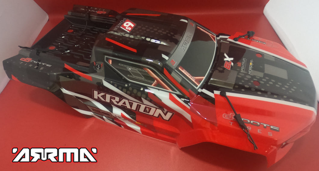 ARRMA KRATON 6S BLX - PAINTED DECALED TRIMMED BODY (RED)