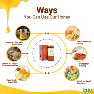 Super Saver Pack (Buy 4 Get 1 Free) - Organic Honey with Ashwagandha, Cinnamon, Vana Tulsi, Ginger and Turmeric 150gm each