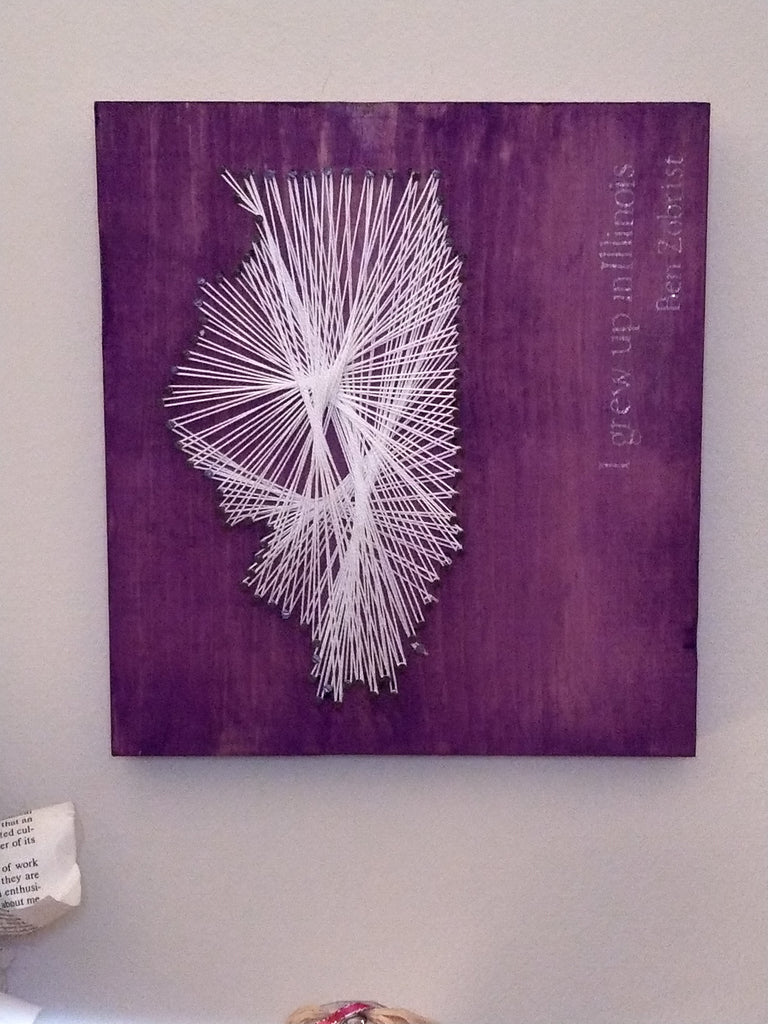 String Art - Celebrate Illinois' Bicentennial
