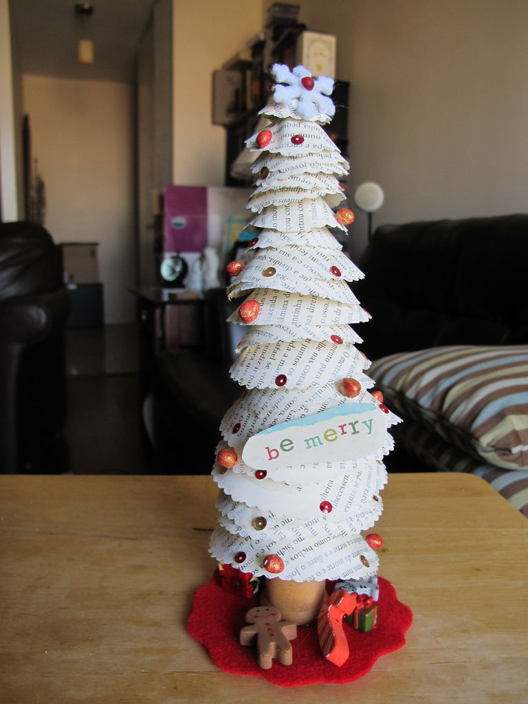 Upcycled Book Page Christmas Tree Class