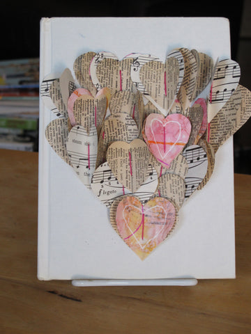 Valentine's Day Book Page Heart