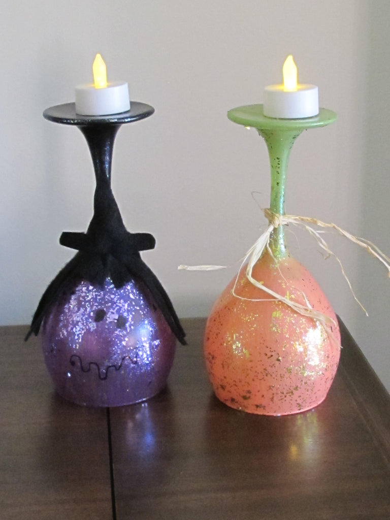 Halloween/Autumn Wine Glass Suminaries