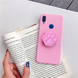 Cute Cartoon Stand Back Phone Case For iPhone