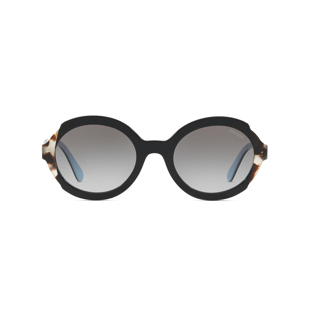 Load image into Gallery viewer, Prada Women's Asian Fit Oval Heritage Sunglasses Black Brown