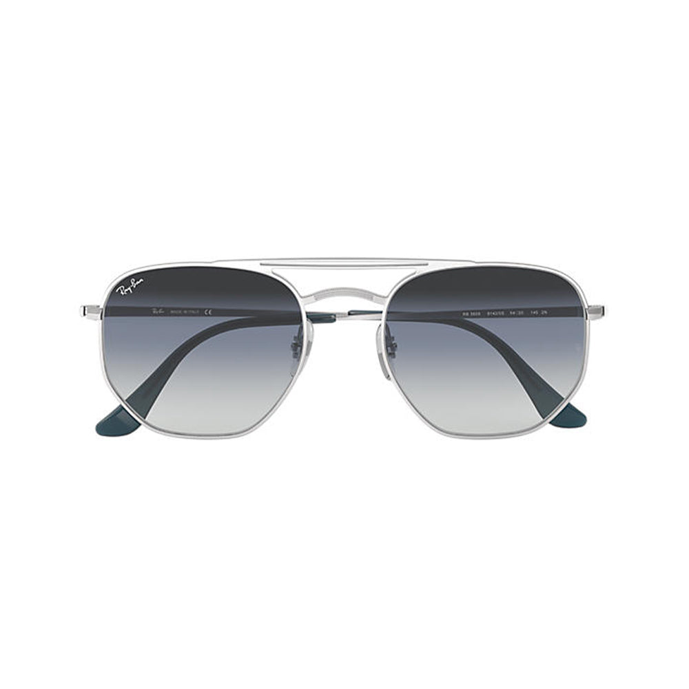 Load image into Gallery viewer, Ray-Ban Unisex Hexagonal RB3609 Metal Sunglasses Demi Gloss Silver