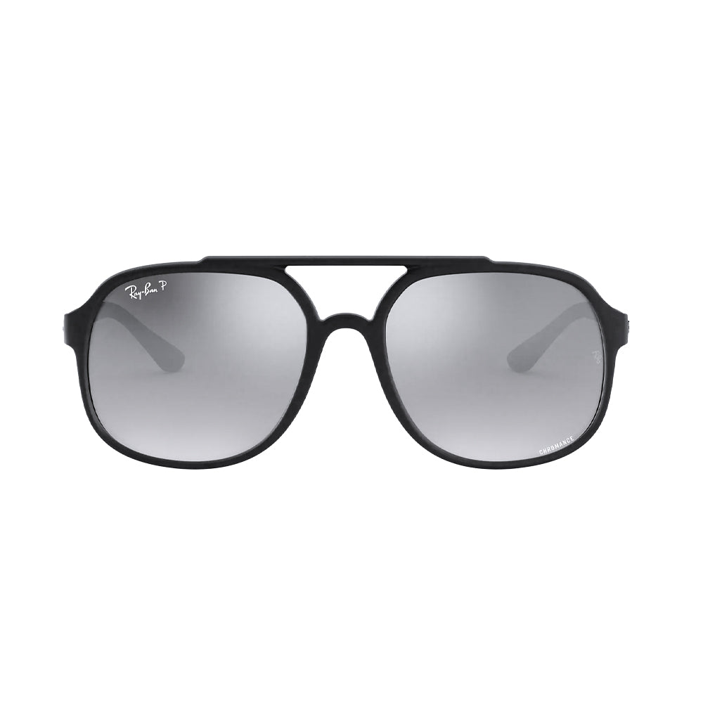 Load image into Gallery viewer, Ray-Ban Unisex Pilot RB4320CH Sunglasses Matte Black Polarized