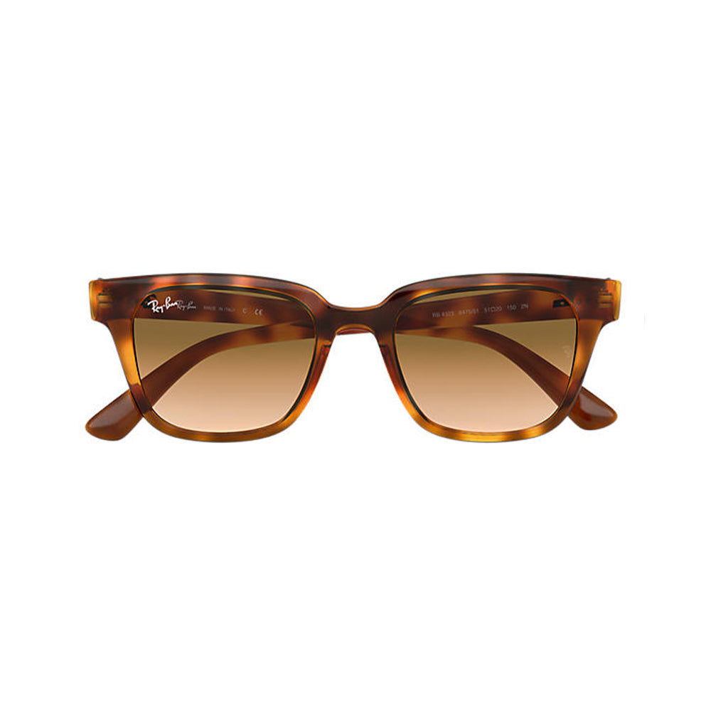 Load image into Gallery viewer, Ray-Ban Unisex Square RB4323 Sunglasses Yellow Light Havana