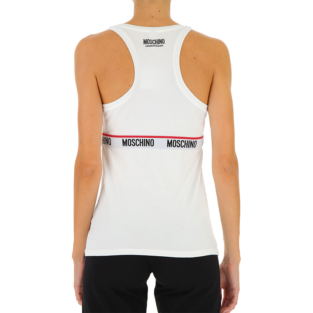 Load image into Gallery viewer, Moschino Underwear Women's Strap Logo Undershirt White