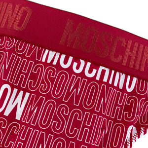 Load image into Gallery viewer, Moschino Underwear Women's All Over Logo Thong Red