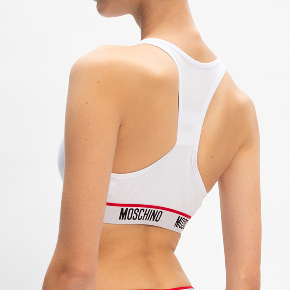 Load image into Gallery viewer, Moschino Underwear Women's Tape Logo Top White