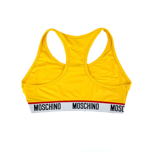 Load image into Gallery viewer, Moschino Underwear Women's Tape Logo Top Yellow