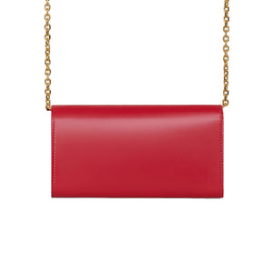 Load image into Gallery viewer, Celine Women's Chain Leather Wallet C Crossbody Handbag Red