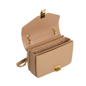 Load image into Gallery viewer, Celine Women's Medium C Logo Handbag In Calfskin Leather Light Camel