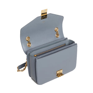 Load image into Gallery viewer, Celine Women's Medium C Logo Handbag In Calfskin Leather Grey