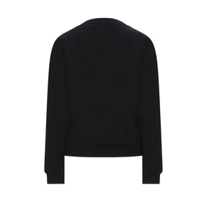 "Load image into Gallery viewer, Moschino Women's ""Under Where"" Logo Sweatshirt Black"