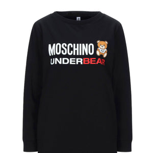 Load image into Gallery viewer, Moschino Women's Underbear Logo Sweatshirt Dress Black