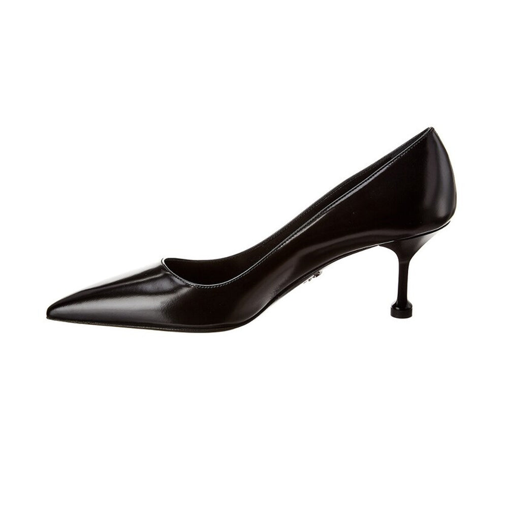 Load image into Gallery viewer, Prada Women's Leather Pointed Toe Pumps Shoes Black