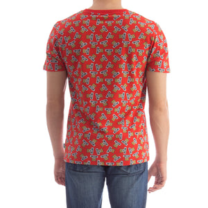 Load image into Gallery viewer, Moschino Logo Teddy Bear Print Tee Shirt Red