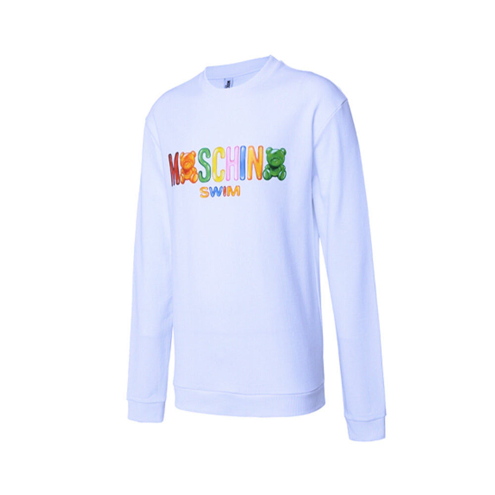Load image into Gallery viewer, Moschino Swim Unisex Crewneck Gummy Teddy Bear Sweater White