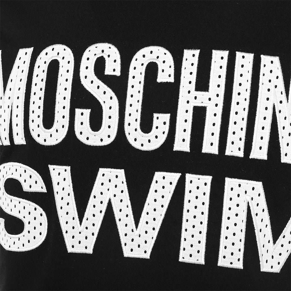 Load image into Gallery viewer, Moschino Swim Unisex Stitched Logo T-Shirt Black