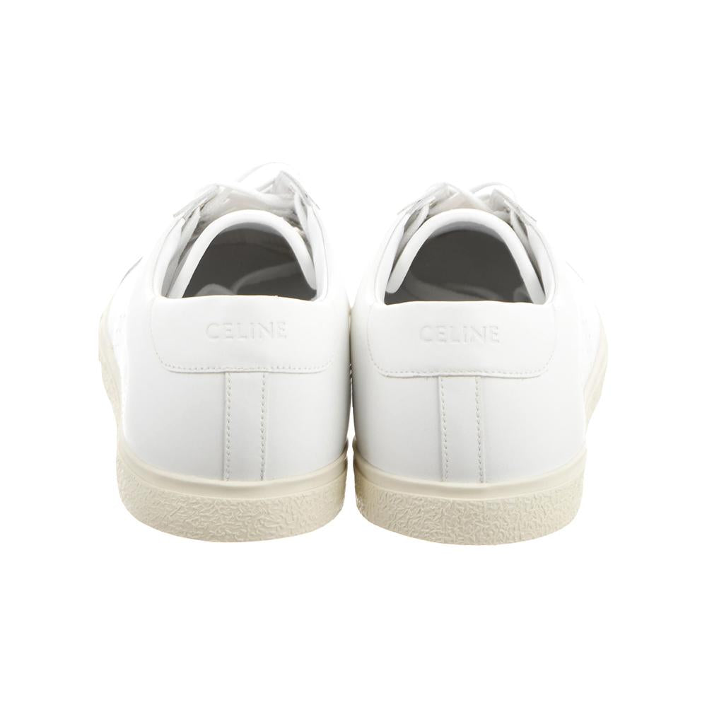 Load image into Gallery viewer, CELINE Women's Leather Triomphe Low Top Sneakers Shoes White