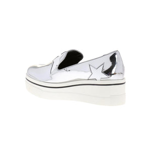 Load image into Gallery viewer, Stella McCartney Women's Platform Star Slip-On Sneakers Silver
