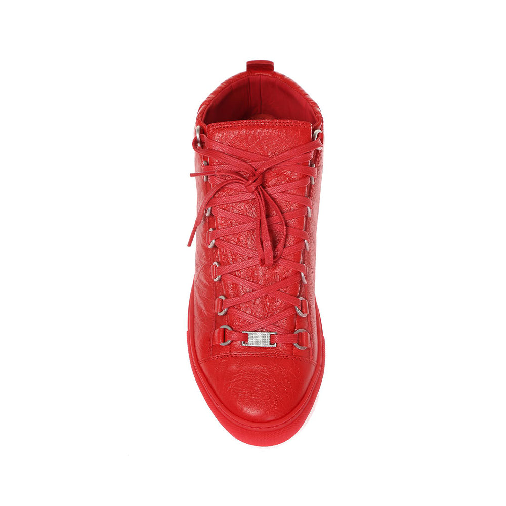 Load image into Gallery viewer, Balenciaga Men's Leather Arena Sneakers Paprika Red