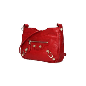 Load image into Gallery viewer, Balenciaga Classic City Small Arena Hip Satchel Bag Red/Gold