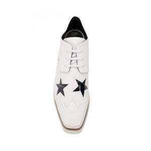 Load image into Gallery viewer, Stella McCartney Women's Elyse Crystal Star Platform Shoes White