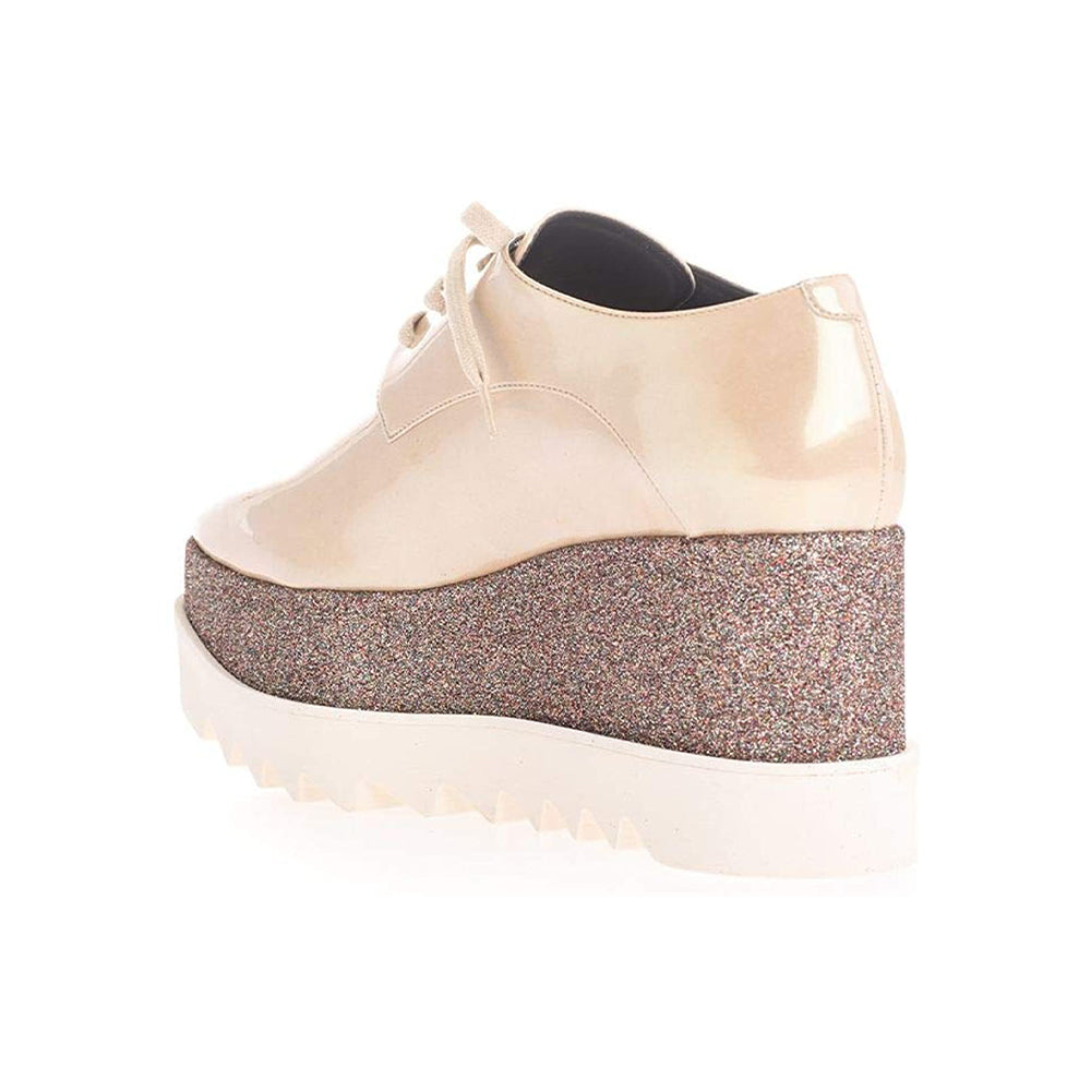 Load image into Gallery viewer, Stella McCartney Women's Elyse Platform Sneakers Glitter Gold