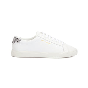 Load image into Gallery viewer, Saint Laurent Women's Leather Andy Glitter Detail Sneakers