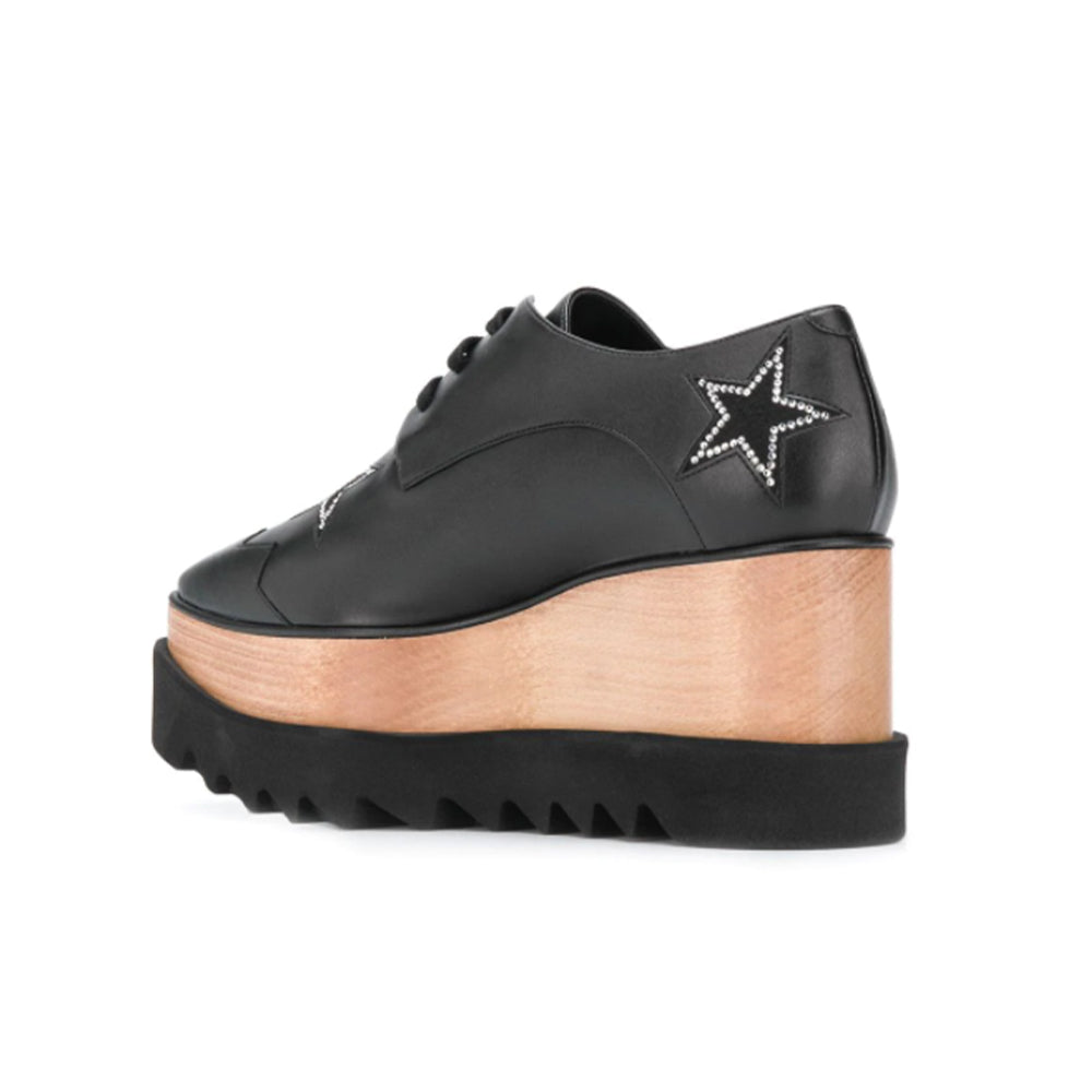 Load image into Gallery viewer, Stella McCartney Women's Elyse Studded Star Platform Sneakers Black