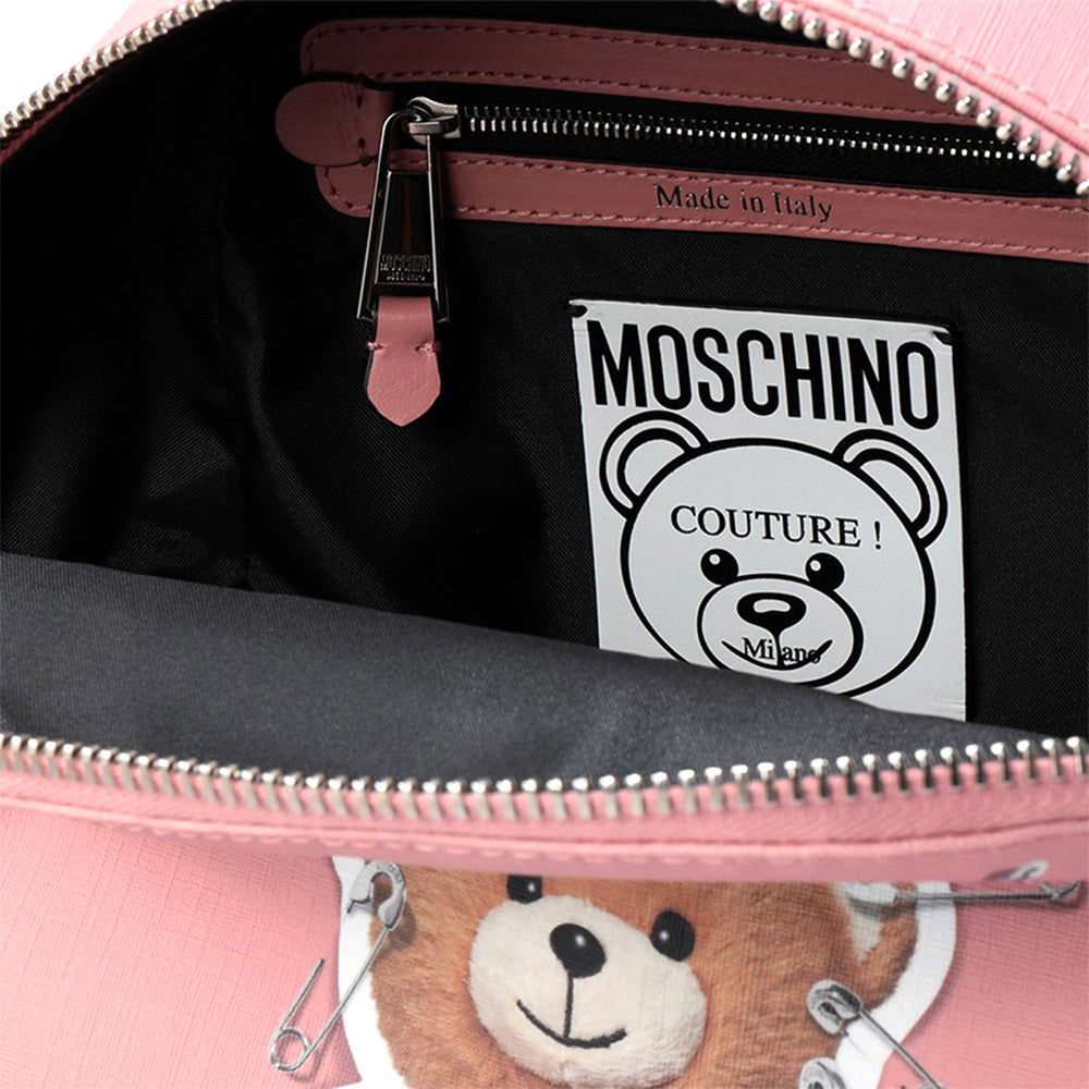 Load image into Gallery viewer, Moschino Couture Mini Leather Robot Bear Backpack Bag Pink