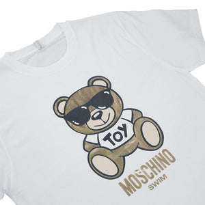 Load image into Gallery viewer, Moschino Cotton Unisex Metallic Teddy Bear T-Shirt - White