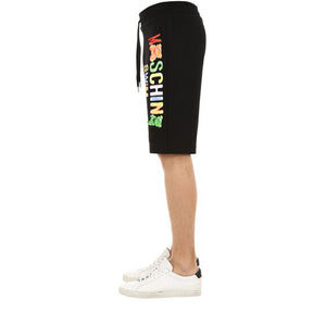 Load image into Gallery viewer, Moschino Swim Men's Gummy Logo Cotton Shorts Black