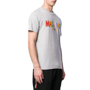 Load image into Gallery viewer, Moschino Swim Men's Gummy Logo T-Shirt Grey