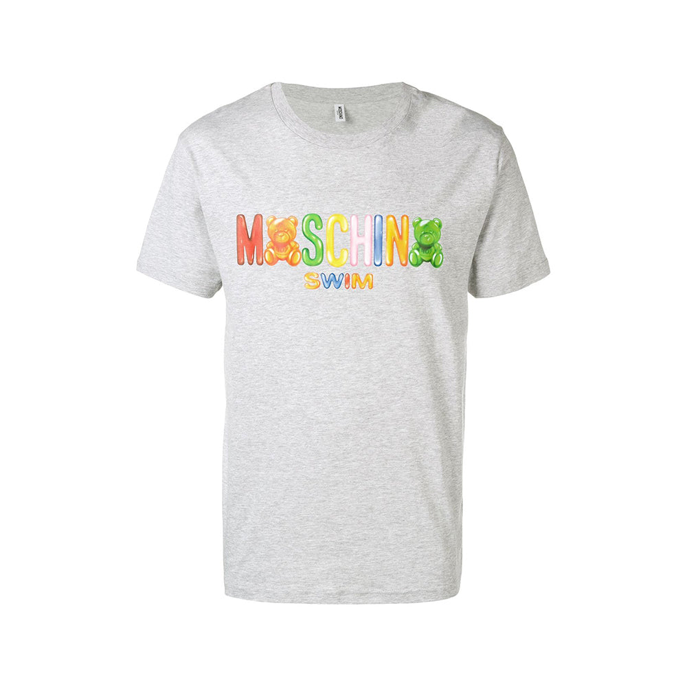 Moschino Swim Men's Gummy Logo T-Shirt Grey