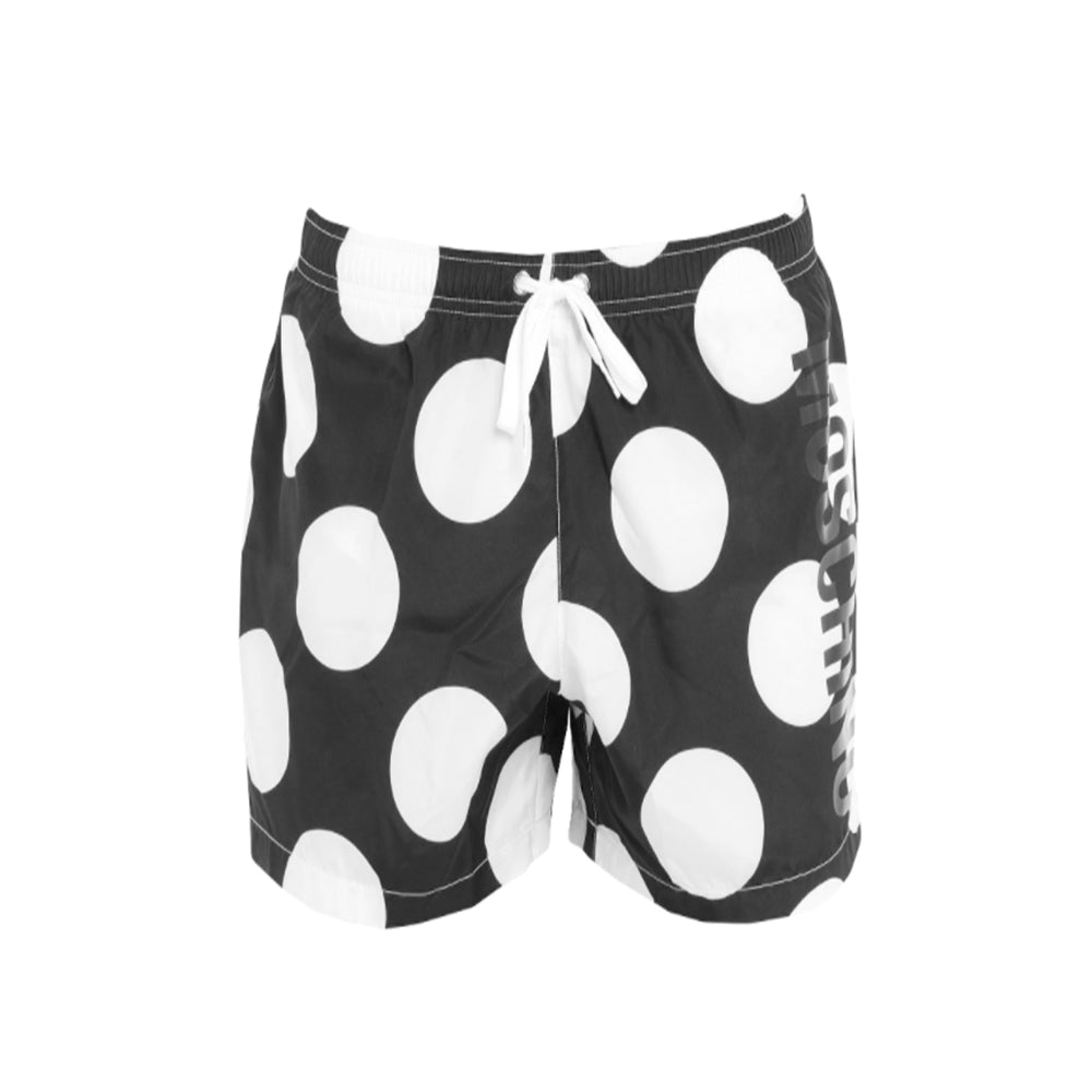 Moschino Swim Men's Polka Dot Swim Shorts Black