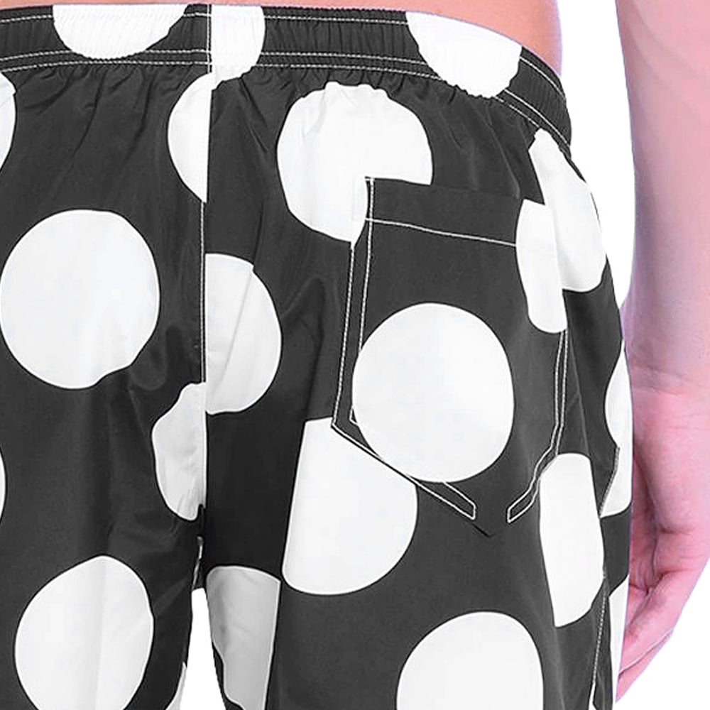 Load image into Gallery viewer, Moschino Swim Men's Polka Dot Swim Shorts Black