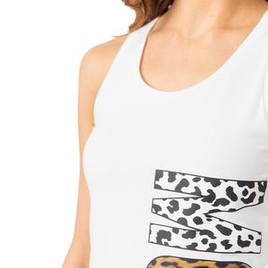 Load image into Gallery viewer, Moschino Swim Women's Animal Logo Tank-Top Dress White