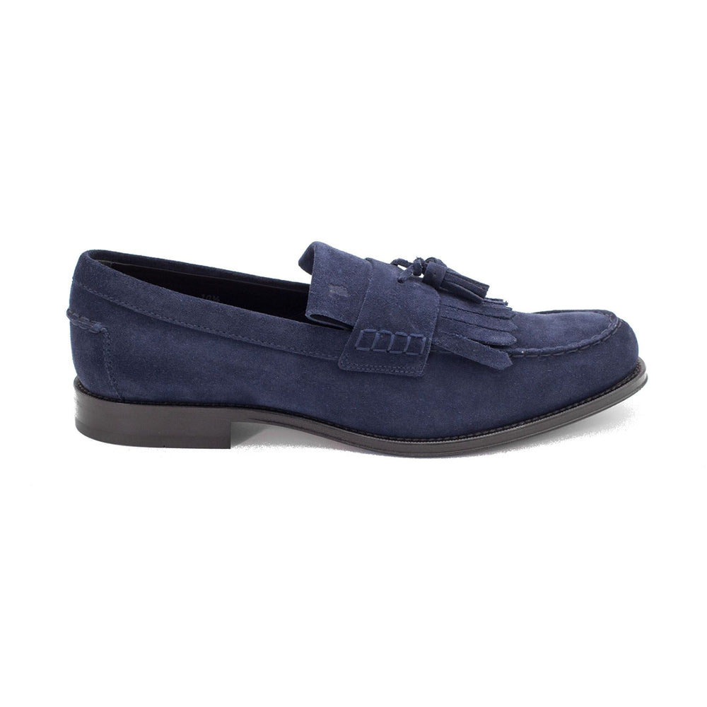 Load image into Gallery viewer, TOD'S Men's Suede Penny Loafer Shoes Navy Blue