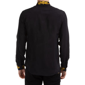 Load image into Gallery viewer, Versace Jeans Couture Men's Baroque Collar Shirt Black